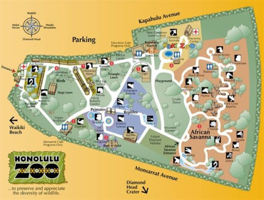 map-honolulu-zoo